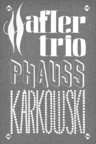 The Hafler Trio, Phauss, Karkowski, CBGB, 1992