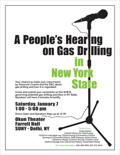A People's Hearing on Gas Drilling, 2012