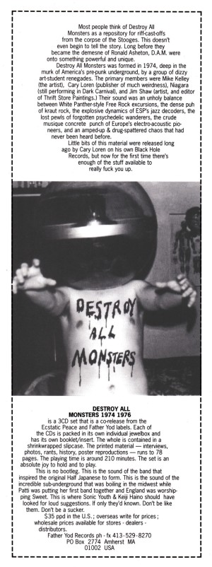 Destroy All Monsters, 1974 - 1976, 1994