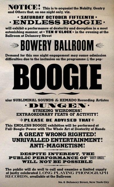 Endless Boogie, Dungen, Bowery Ballroom, 2005