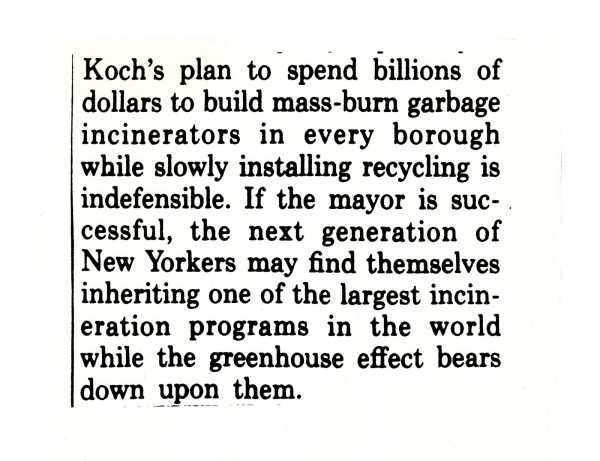 Koch Wins You Lose 1, 1989
