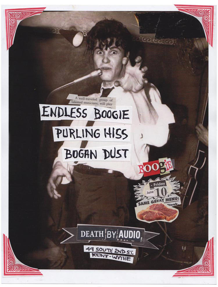 Endless Boogie, Purling Hiss, Bogan Dust, Death By Audio, Poster, 2011